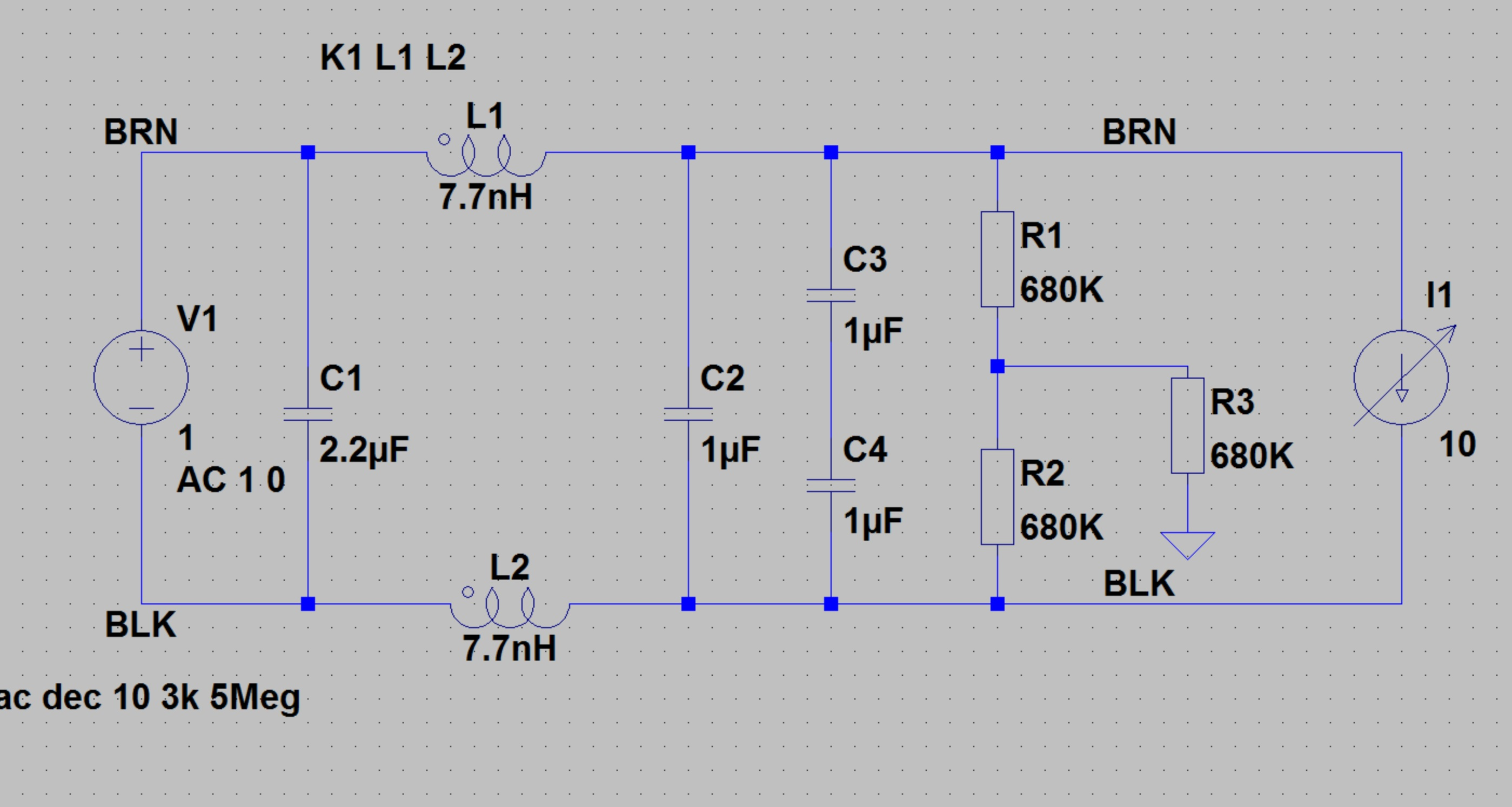 How To Simulate An AC Line Filter In LT Spice