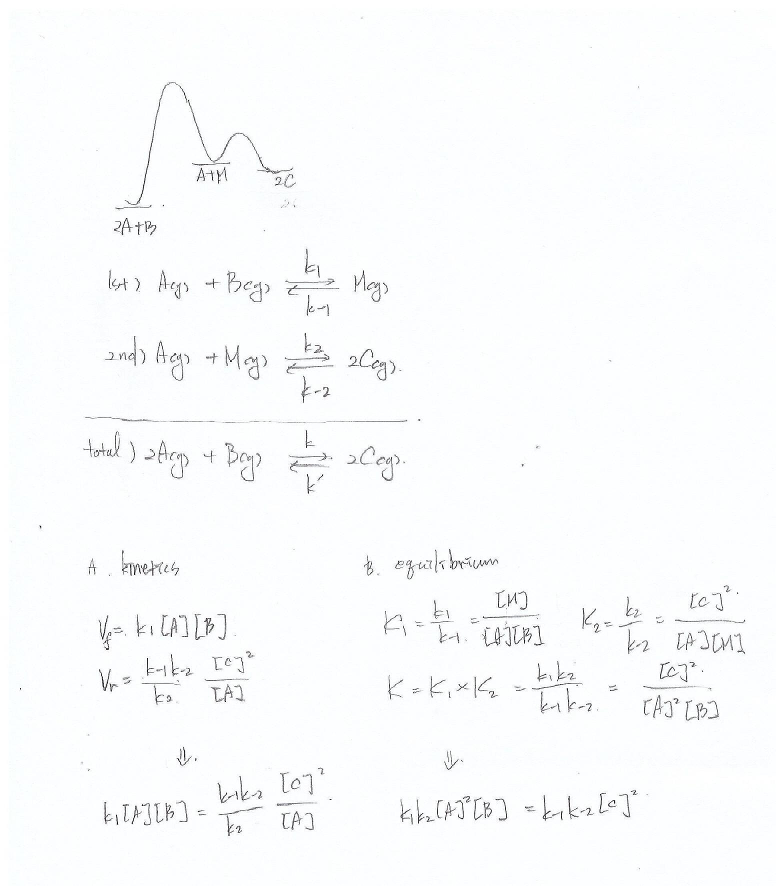 Reaction Coordinate Kinetics Equilibrium In Example