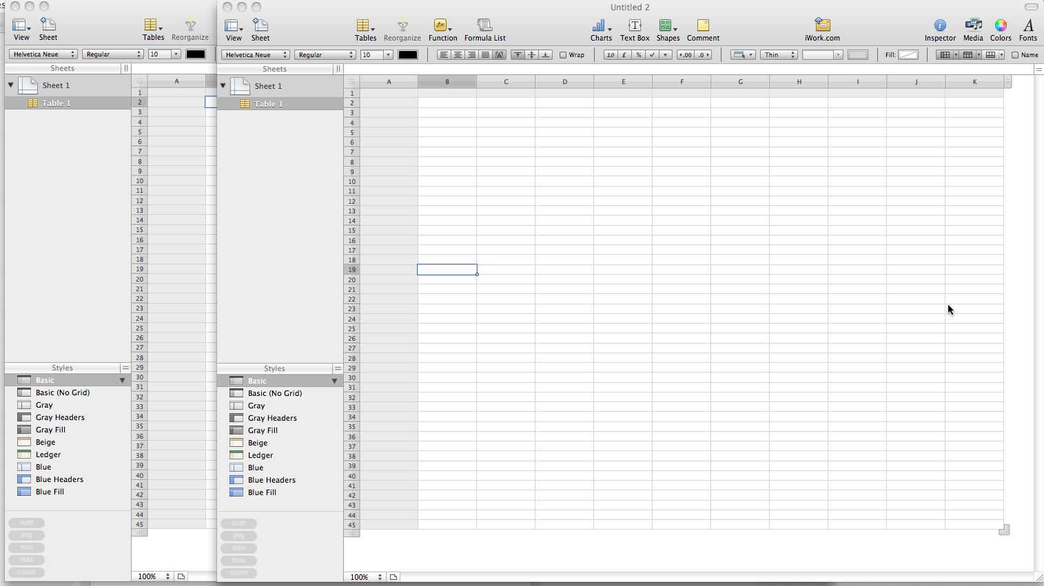 How To Open Numbers Spreadsheet In 2 Separate Windows