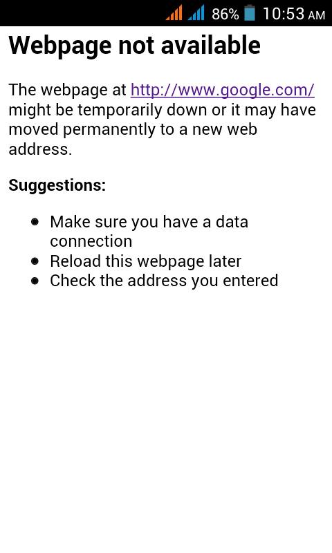 android - Custom Web Page Not Available Error in webview ...