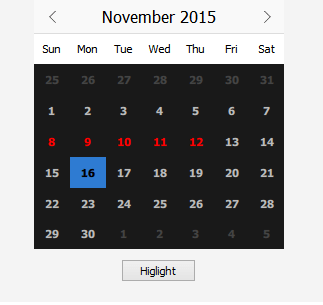 qml - Change calendar style on button click - Stack Overflow