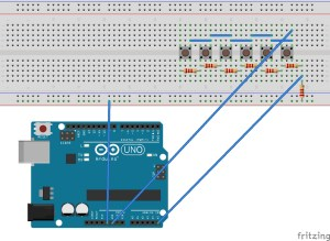 How to Debouce Six Buttons on One Analog Pin With Arduino  Electrical Engineering Stack Exchange