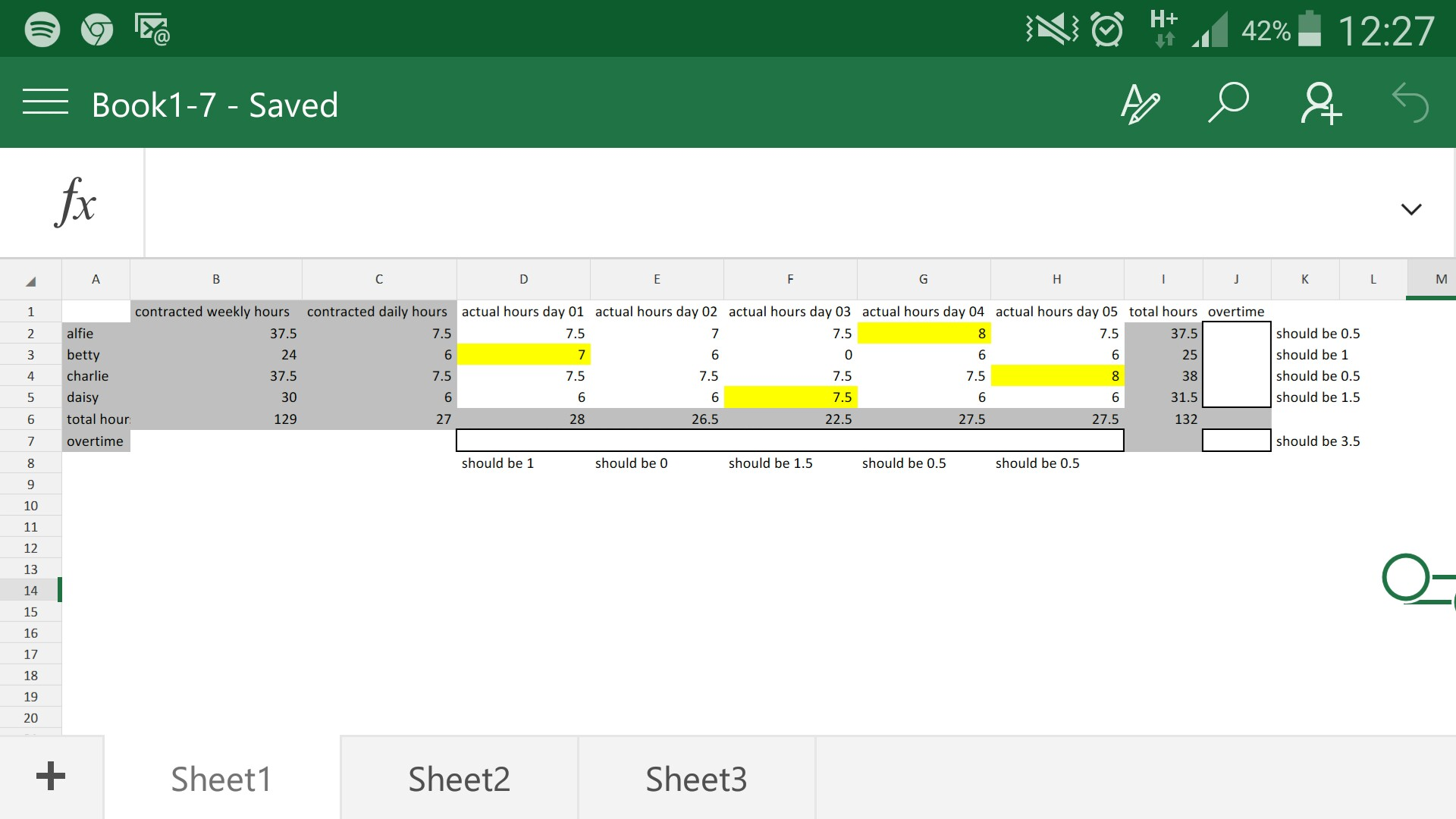 Excel Overtime Formula Based On Cell As Criteria