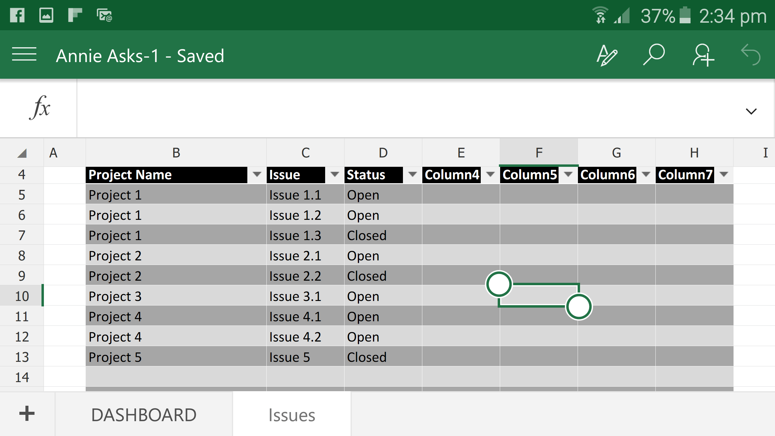 Excel Dashboard Creation