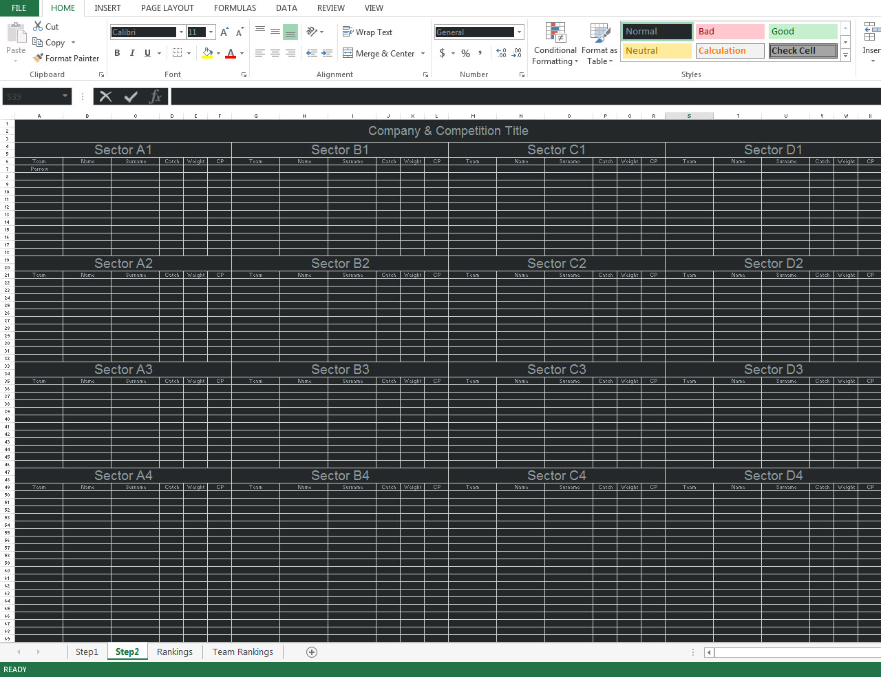 Excel How Can I Reference Data Across Multiple