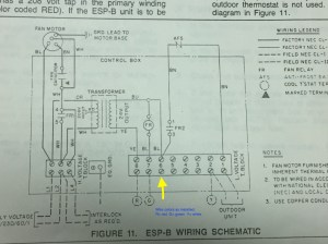 Separate boiler and AC, to which does C wire connect for