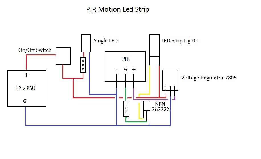 12v LED Strip Lights Controlled By PIR *Want