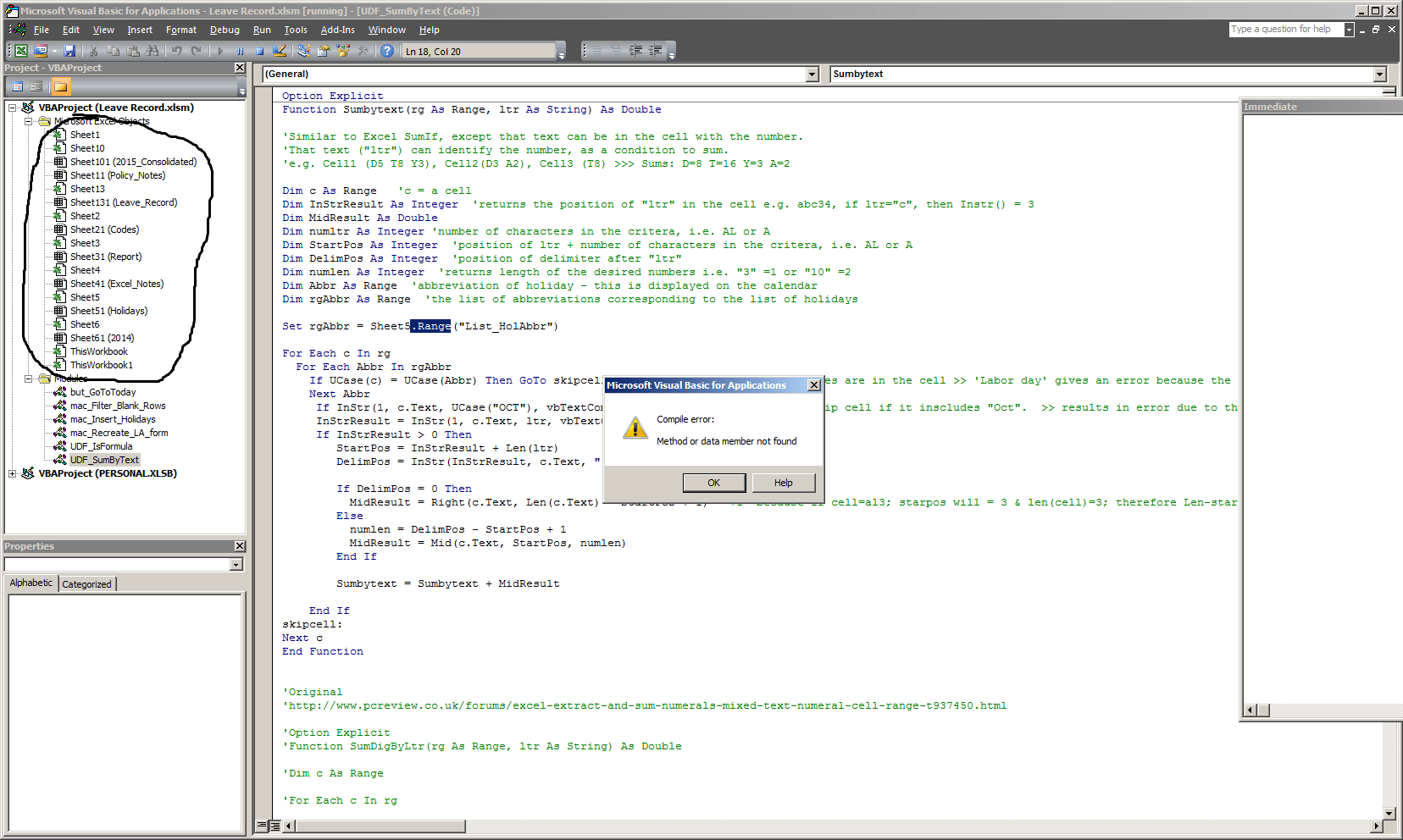 Excel Creates Non Existent Worksheets In Vba Project