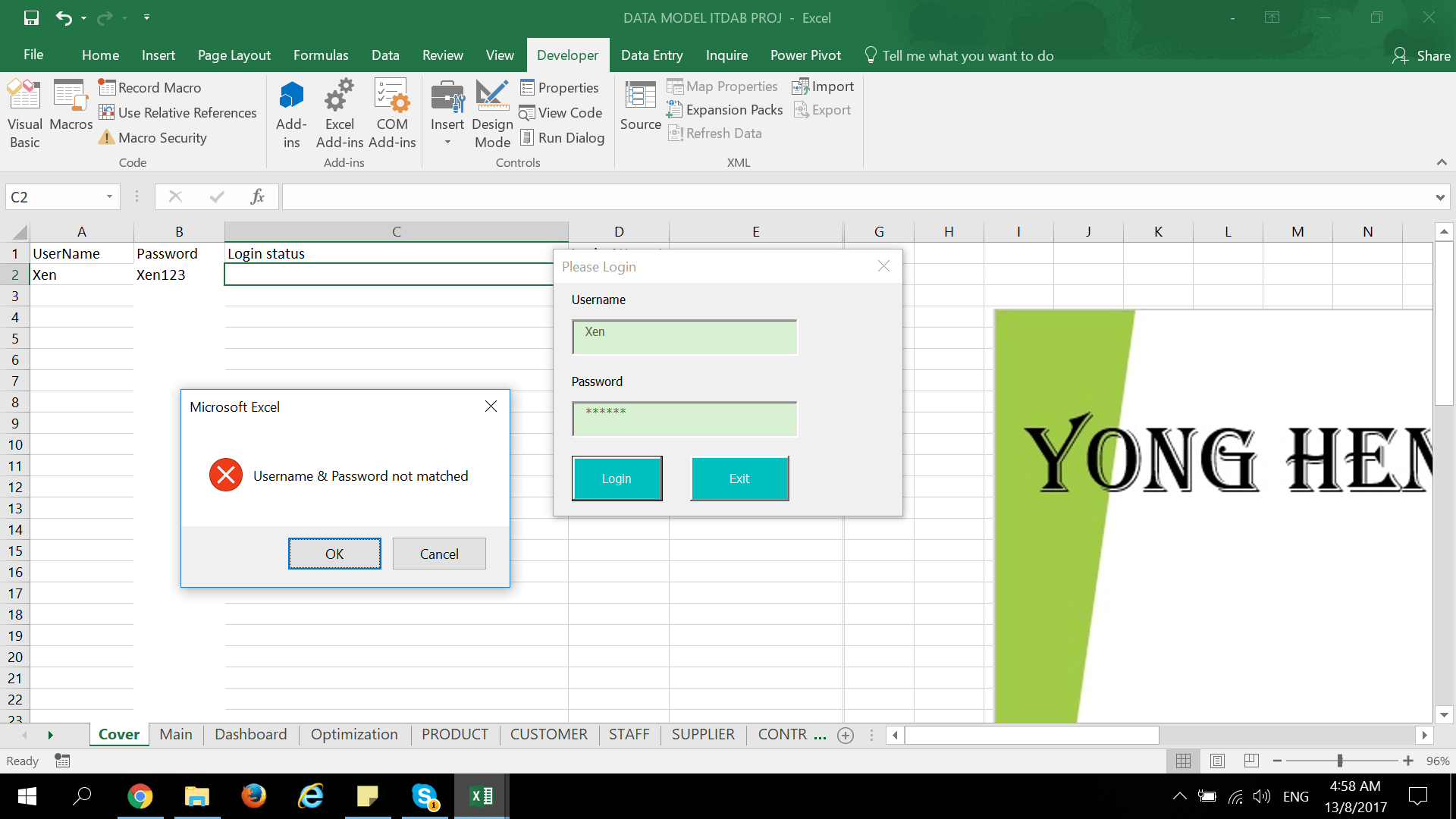 Multiple User Login Form For Excel Vba