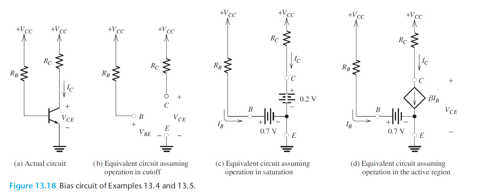 What Does The Arrow On VCC In A BJT Bias Circuit Mean