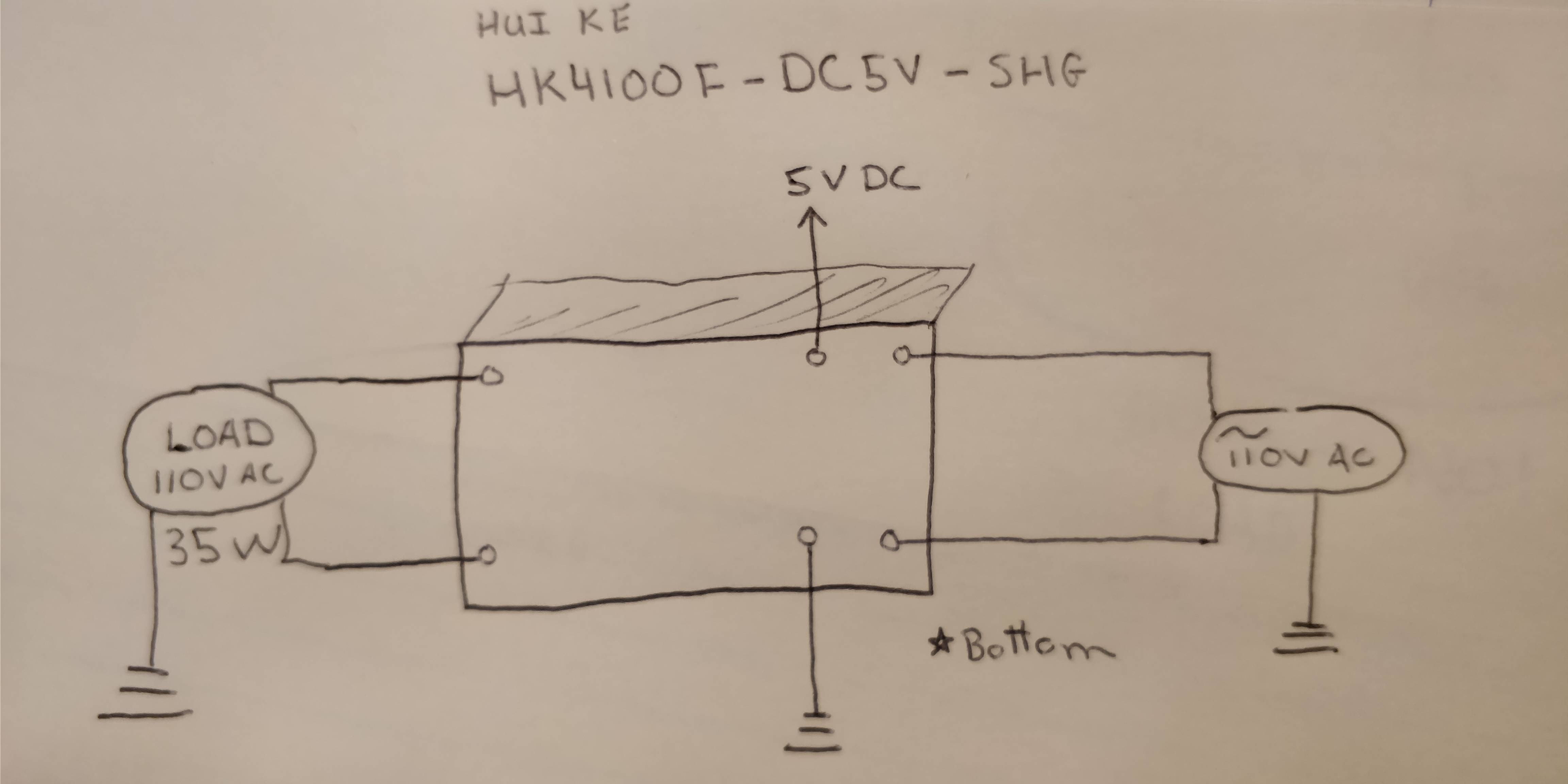 How To Wire A 5V 6-pin Relay Switching 110V AC