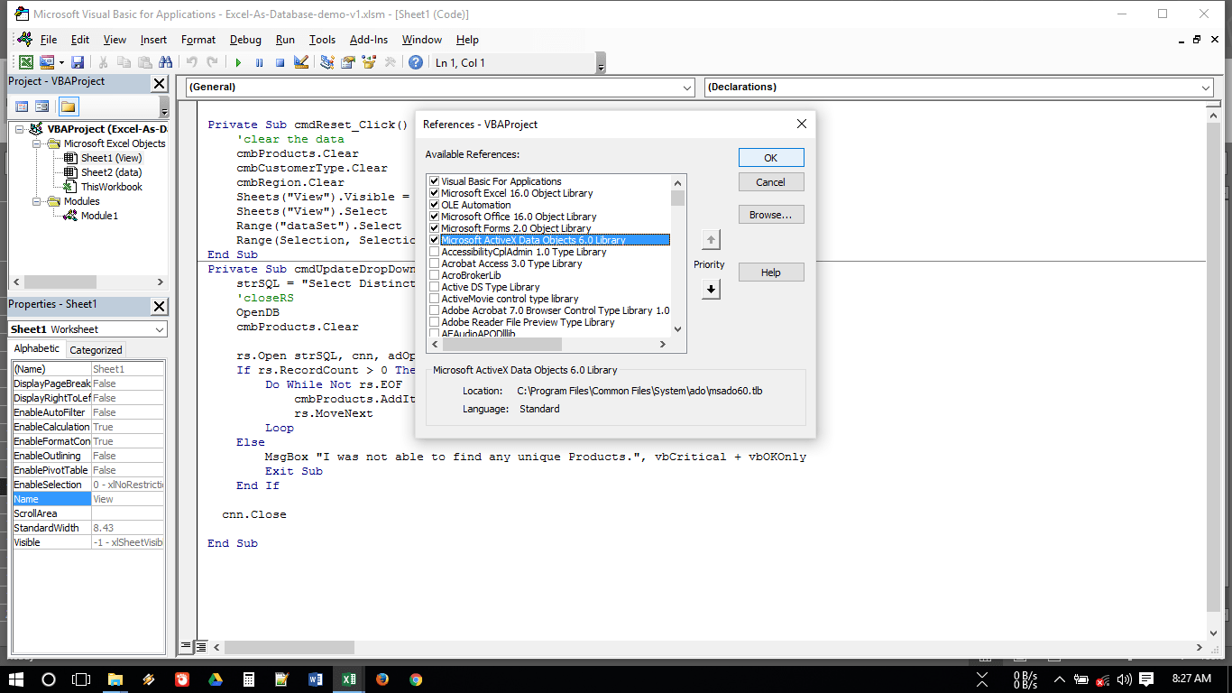 Ole Error When Running Vba In Excel