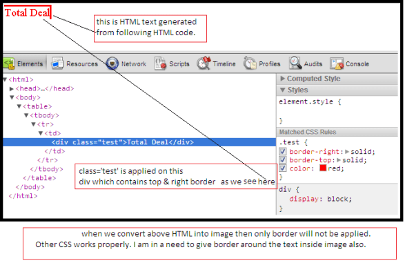 java - How to apply css border around text - Stack Overflow