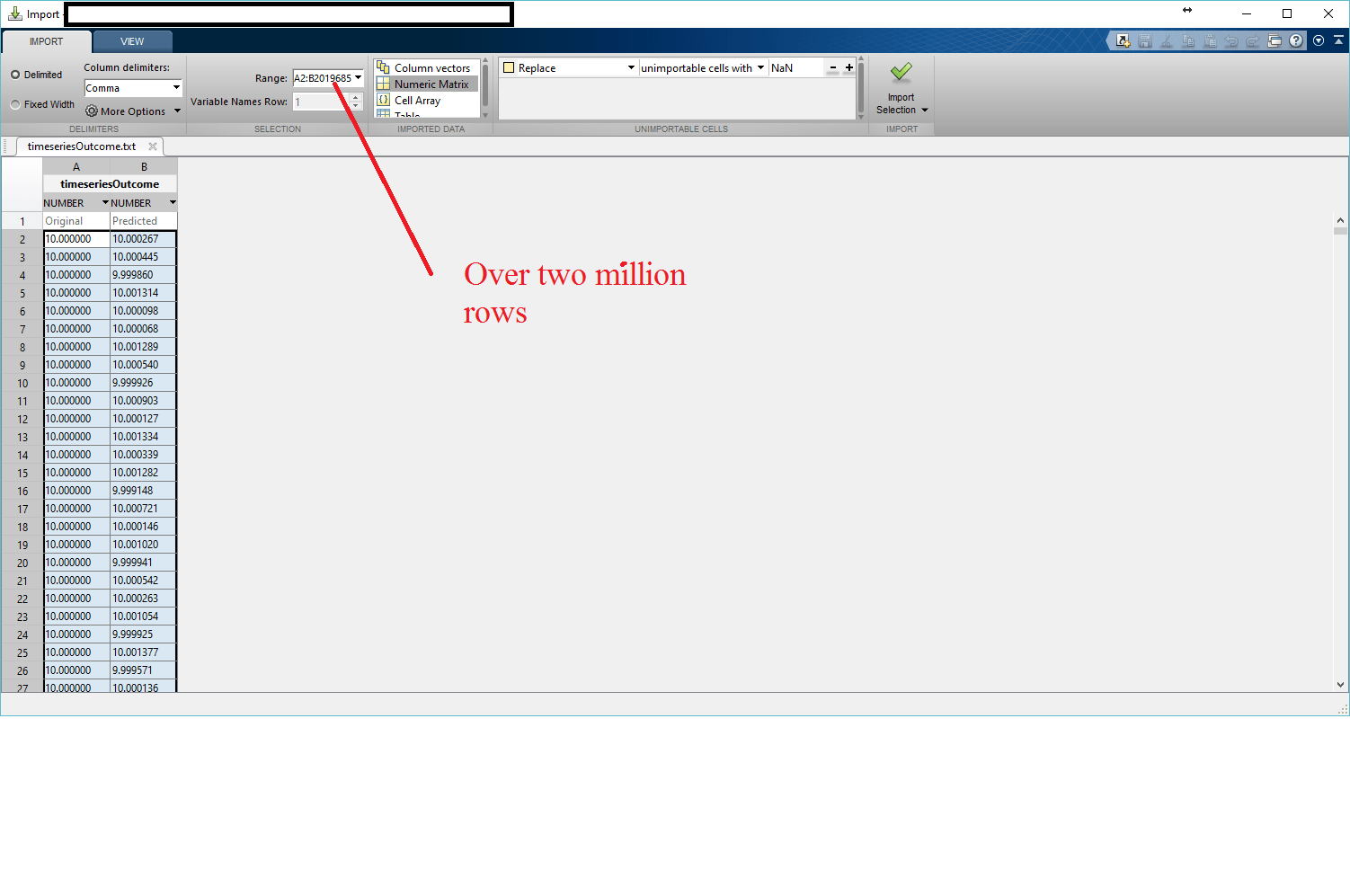 Excel Csv File With More Than 1 048 576 Rows Of Data