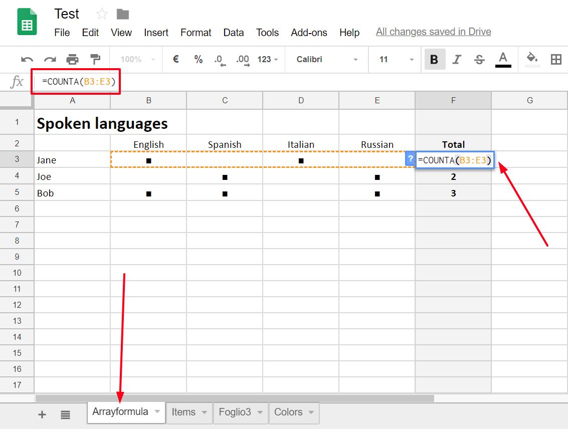 Sheets Arrayformula On Both Horizontal Amp Vertical