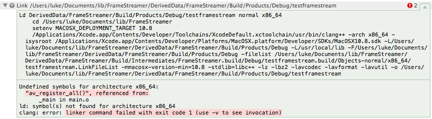 Xcode Undefined Symbols For Architecture X86 64 After Linking C Library In C Program Stack Overflow