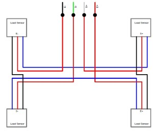 arduino  How to set up load sensor in a full bridge with