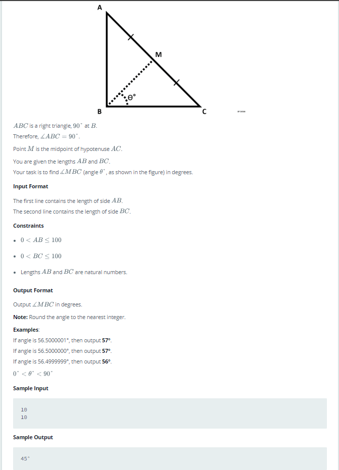 right angle triangle with python 3