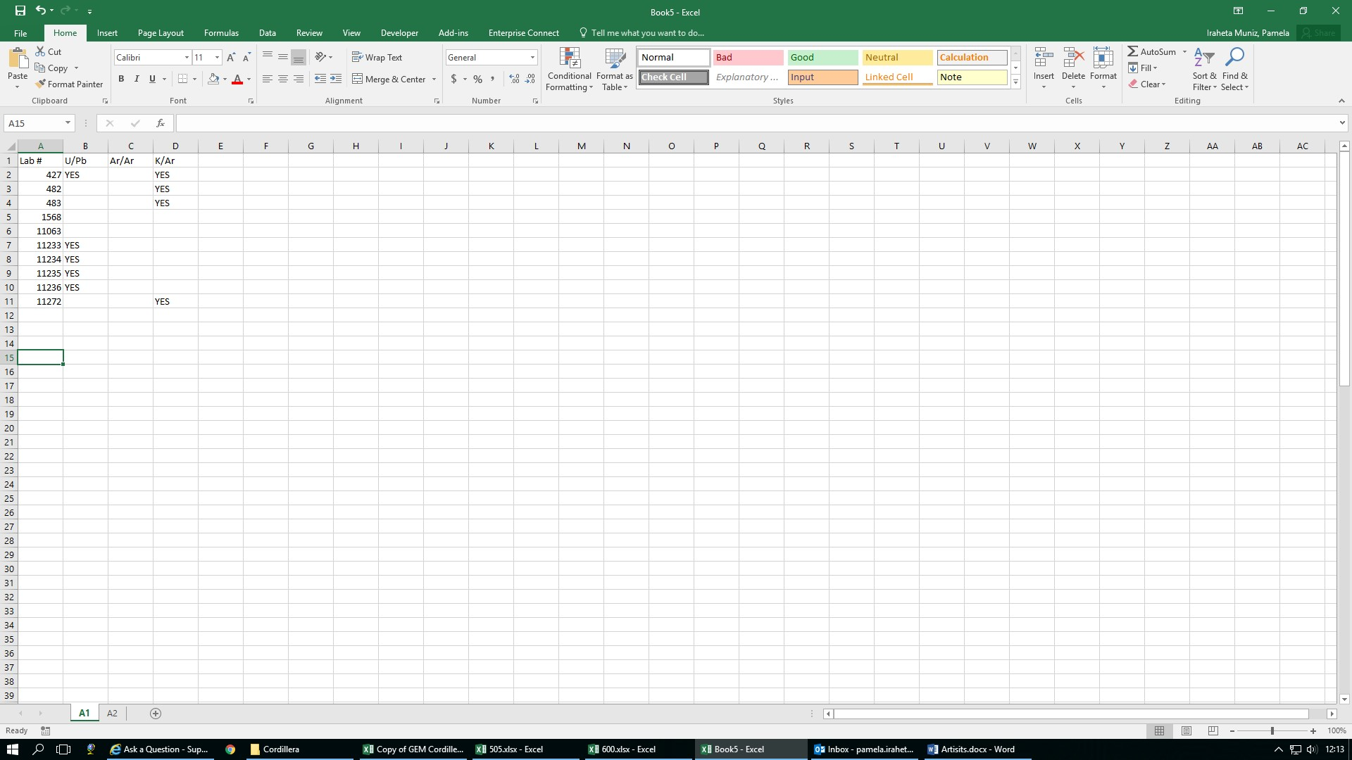 Having Trouble Comparing Multiple Columns And Rows In Different Worksheets In Excel