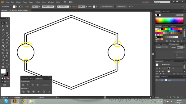 adobe illustrator - How to delete the intersecting part of ...
