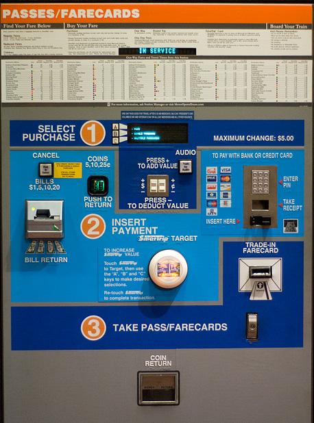 了解华盛顿特区地铁售票机