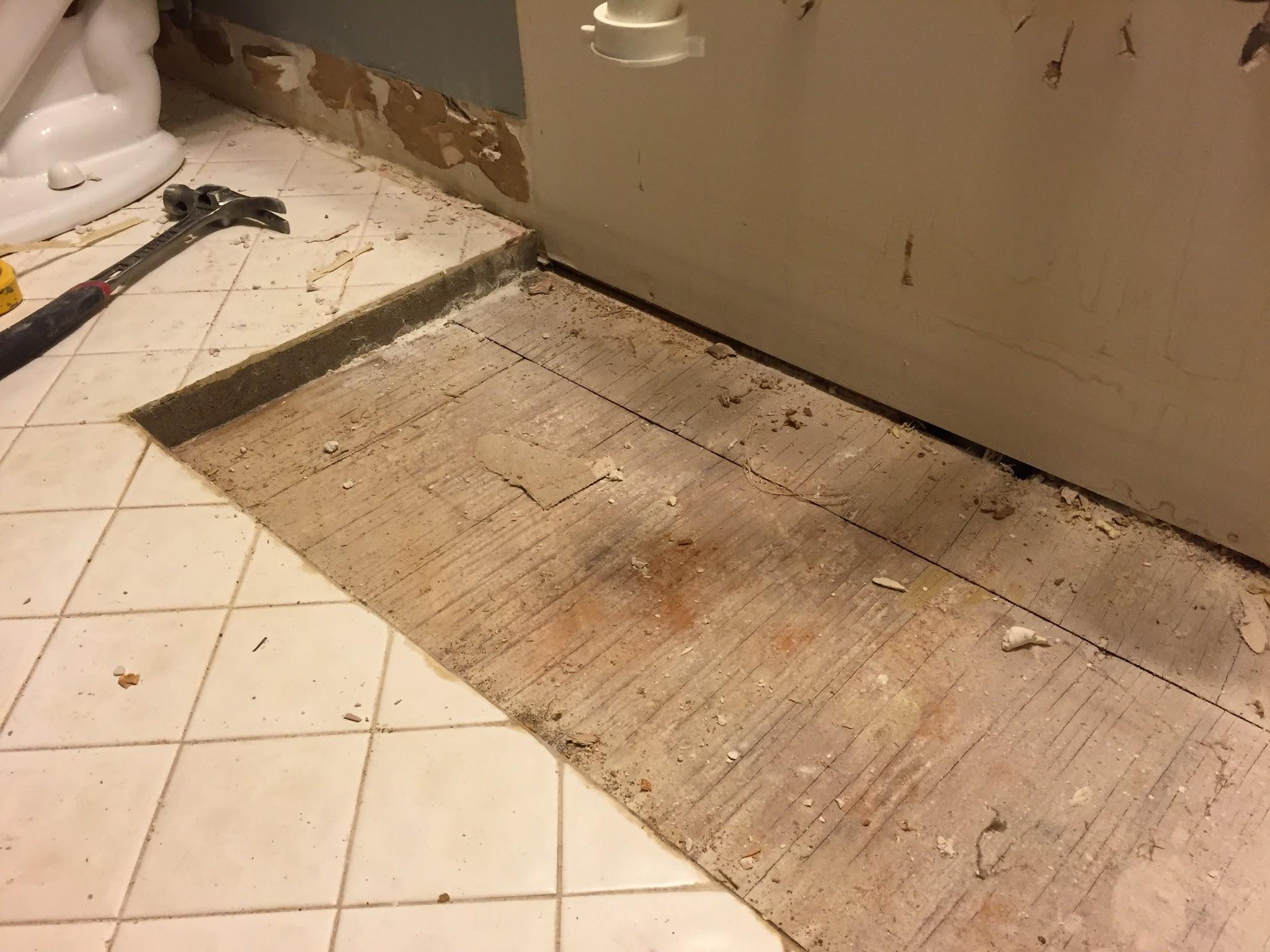 masonry under my bathroom tile
