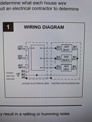 electrical  Wiring a Heater, Vent Fan, Light for bathroom  Home Improvement Stack Exchange
