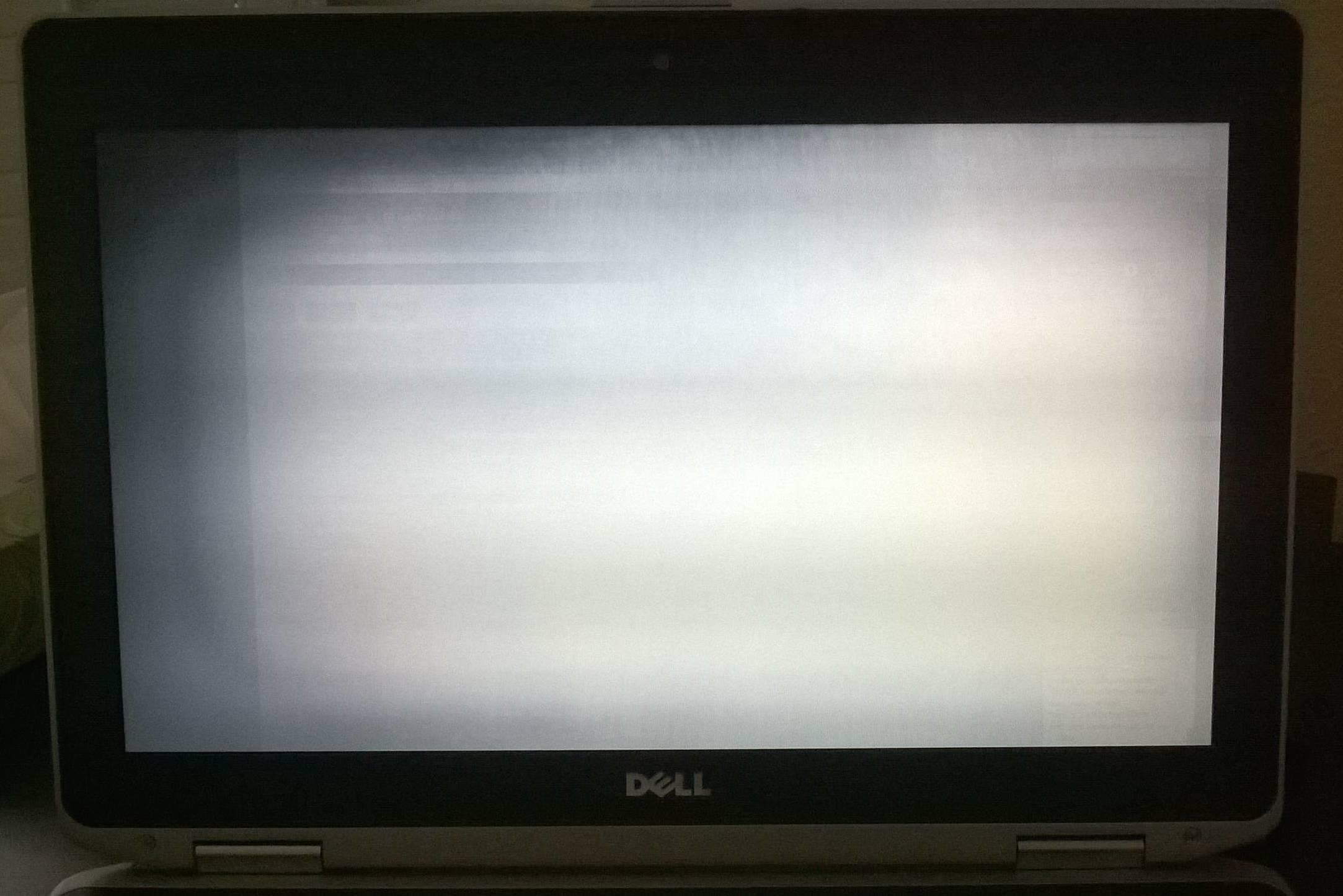 Strange LCD Failure Mode On A Dell Latitude E6430 Laptop