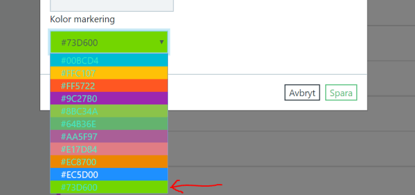 html - select -option for colors and hover behavior ...