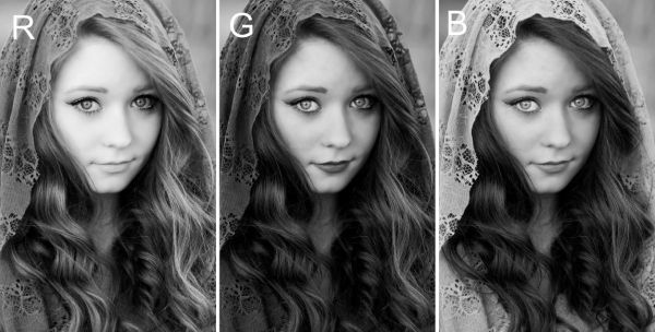 Which color filter do I use for a black & white portrait ...