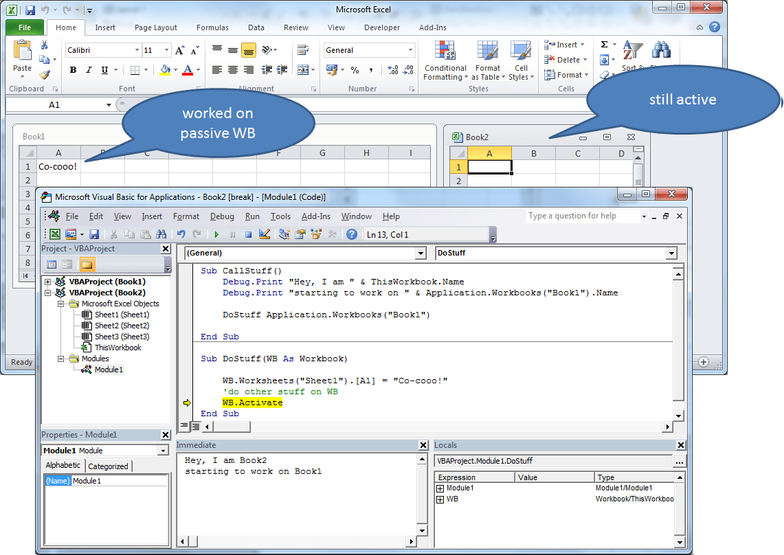 How To Bring Activeworkbook To The Front Of The Window