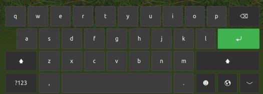 Touchscreen keyboard in 19.04 alphabet keys