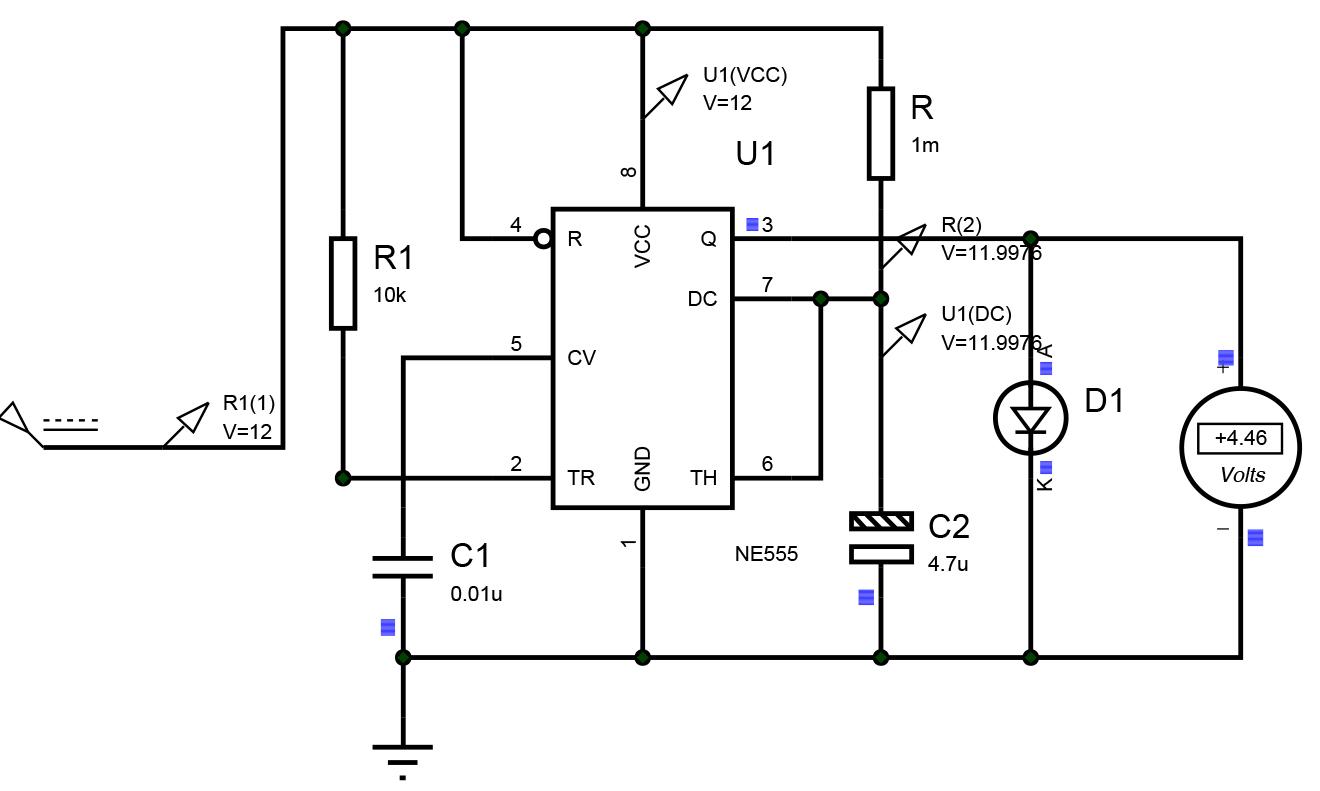 555 Timer Circuit Diagram