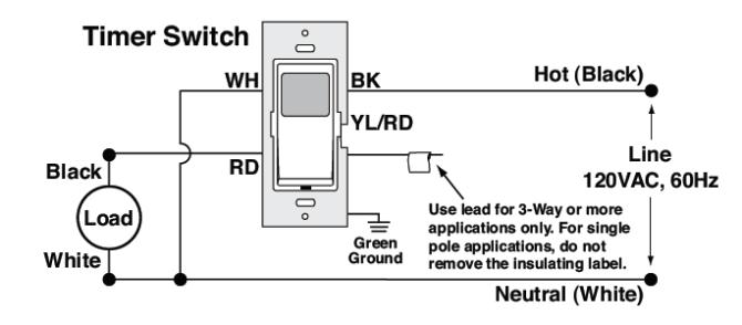 how do i install a leviton light switch timer  home