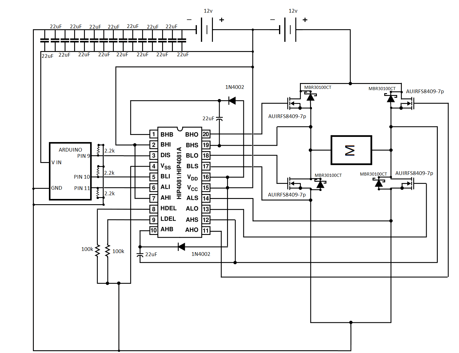 H Bridge Up Circuit Diagram