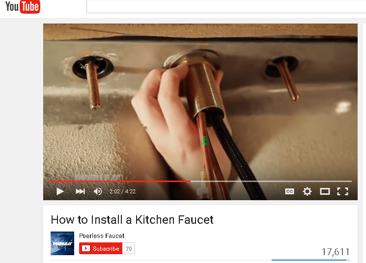 tighten a large nut under the sink