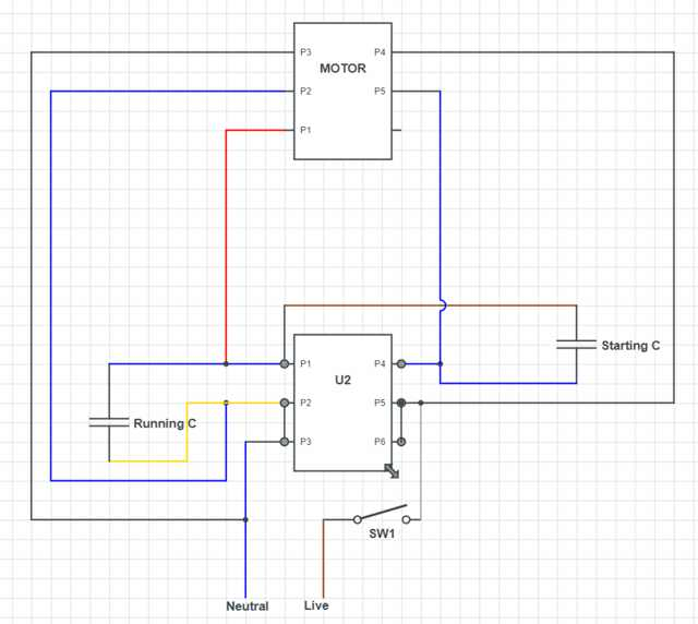 single phase induction motor wiring help  electrical