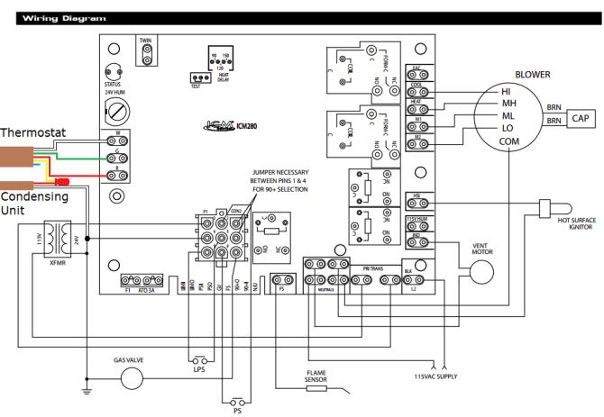 goodman air handler control board wiring diagrams with