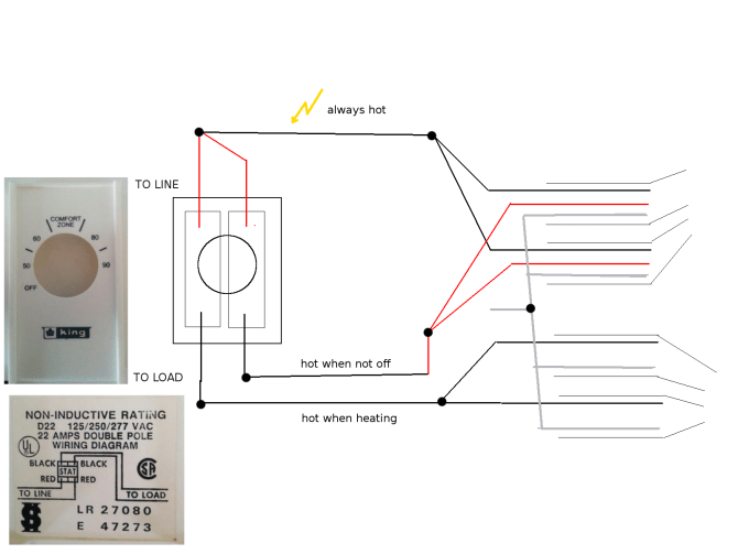 installing doublepole linevoltage thermostat  home