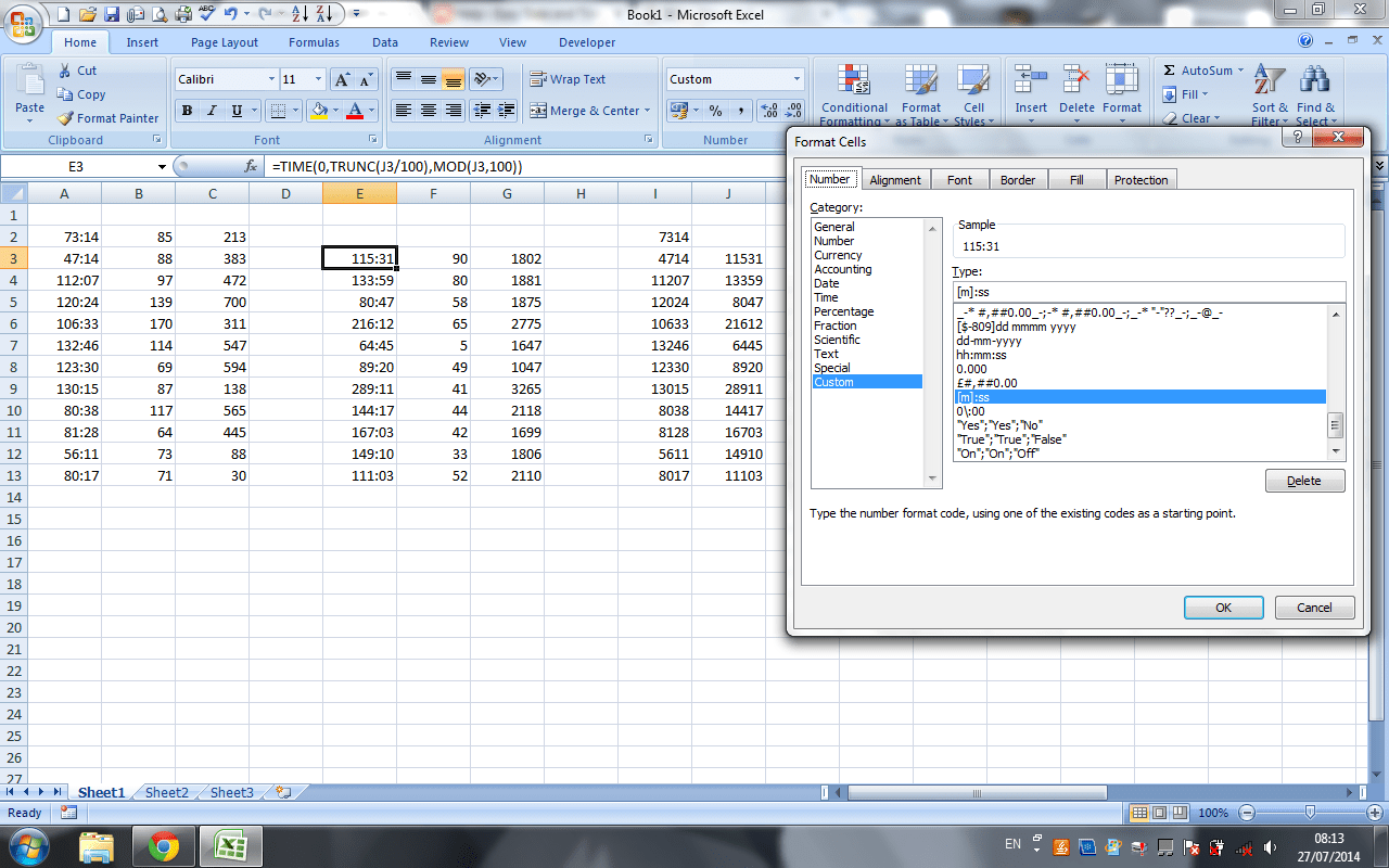 Excel Date Time Format Milliseconds