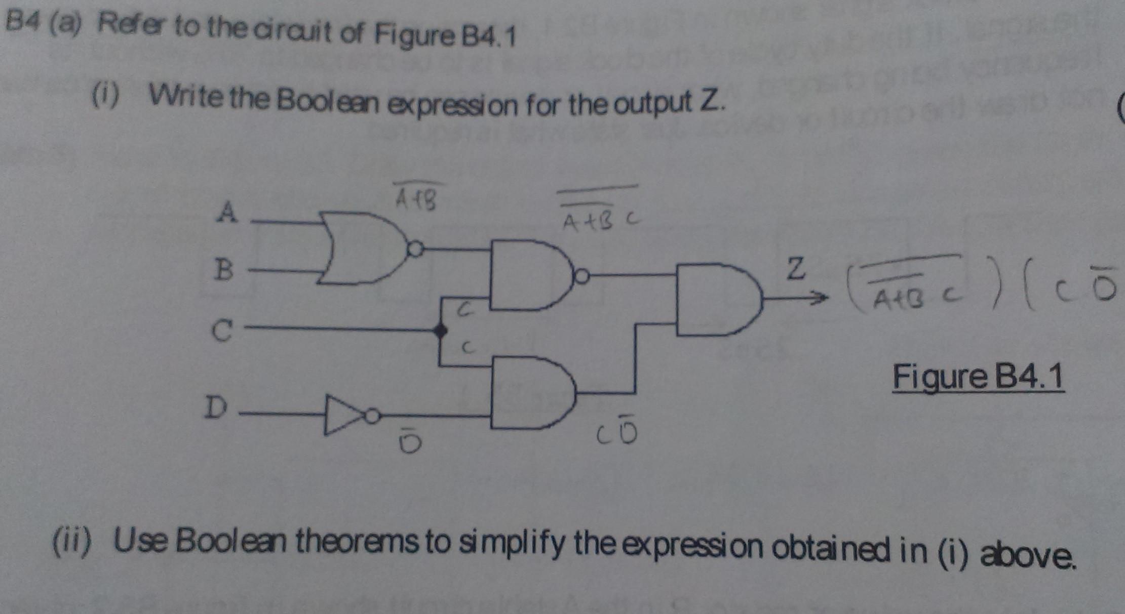 Logic Diagram To Boolean Expression