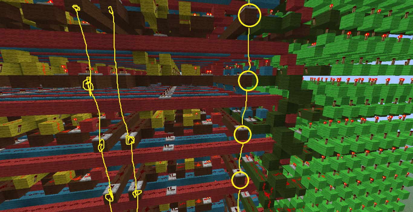 Minecraft Best Way For Connecting This Redstone