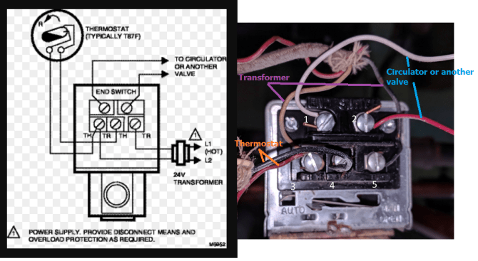 """where is """"c"""" wire on honeywell 8043f1036  home improvement"""