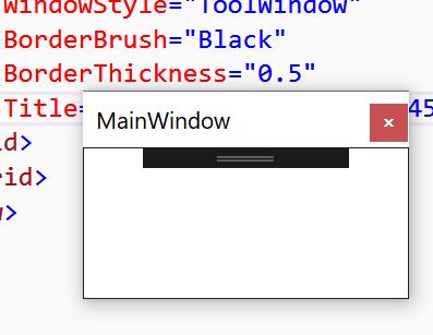 wpf - Why only top border is visible when ToolWindow is ...