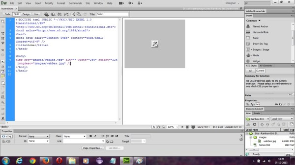 html - Images not showing up in dreamweaver design, but ...