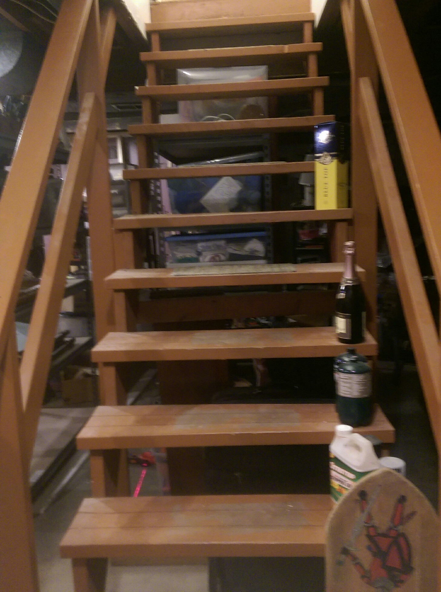 What Is Required To Enclose And Finish My Basement Stairs Home | Stairs Leading To Basement | Beautiful | Painted | Unfinished Basement | Metal | Basement Peaked Roof