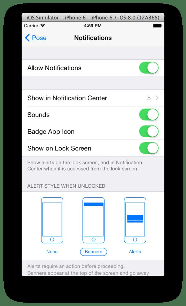 iphone - Push Notifications in Mavericks iOS Simulator ...