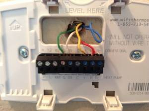 electrical  Installing of Honeywell WiFi Programmable Thermostat  Home Improvement Stack Exchange