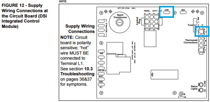 "wifi thermostat to reznor garage heater no ""c"" wire"
