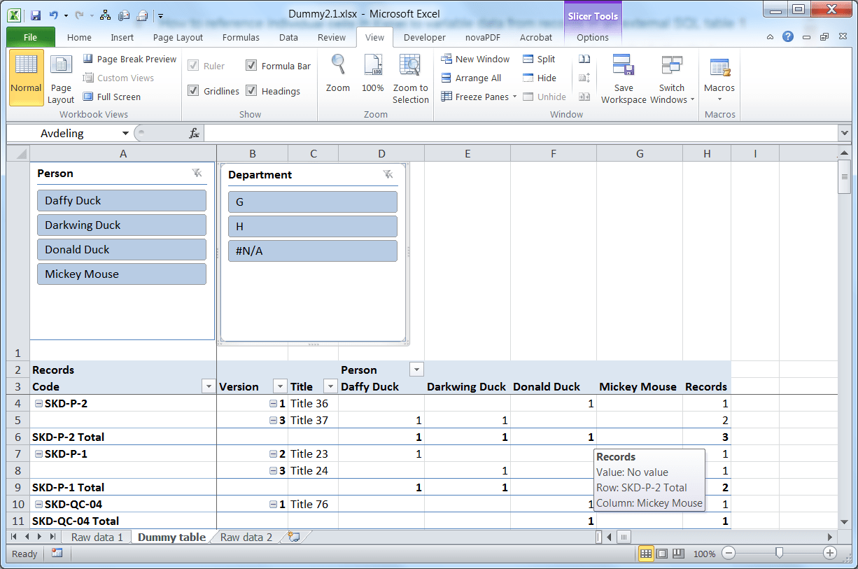Worksheet Header Excel
